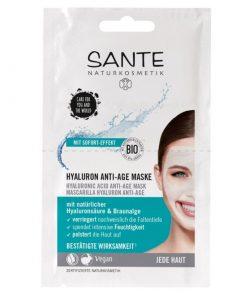 100% BIO anti age maska s kyselinou hyalurónovou pre vek 40+. Biokozmetika. Intenzívne hydratuje, vyhladzuje a vypína pleť. Bez silikonov a parabénov