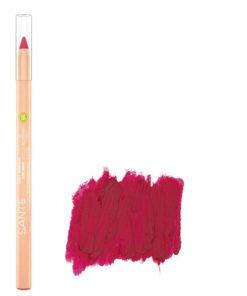 BIO ceruzka na pery 04 Blooming Scarlet SANTE - 100% čisto BIO prírodná dekoratívna kozmetika s vyživujúcimi olejmi a s obsahom BIO bambuckého masla.