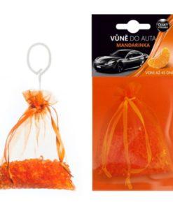 Vôňa do auta Mandarinka, vhodná aj na WC či kúpeľne. Vôňa vydrží až 45 dní. Plastové guličky s príjemnou vôňou. Made in Česká republika