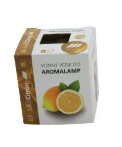 Vonné vosky Citrón 8 kociek s esenciálnym olejom v palmovom vosku, vhodné pre malé aromalampy. Bez nebezpečných syntetických prísad. 100% prírodný