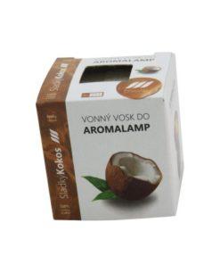Vonné vosky Kokos 8 kociek s esenciálnym olejom v palmovom vosku, vhodné pre malé aromalampy. Bez nebezpečných syntetických prísad. 100% prírodný