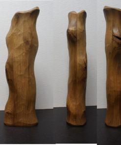 Váza dub masív prírodná 2 masívny dub, pri povrchovej úprave bol použitý transparentný olej. Olejová úprava, hladký povrch, sú priznané špáry a praskliny