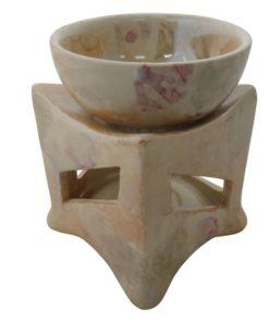 Aromalampa keramická Mramorový vzhľad s extra hlbokou miskou, je vhodná ako darček pre ženu i muža. Elegantný moderný bytový doplnok