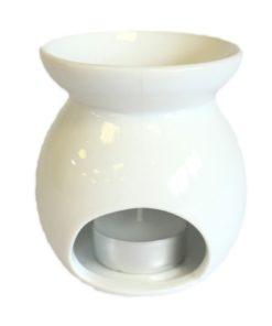 Aromalampa biela Strom malá keramická na vonné vosky, je vhodná ako darček pre ženu i muža. Elegantný moderný bytový doplnok