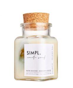Eko sviečka SIMPL opuncia-zelený čaj - prírodná rastlinná sviečka. Nevšedné vonné esencie a kúsok prírody. Ručne odlievaná sviečka z rastlinných voskov