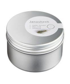 Eko sviečka Janosheek Medzi horami - prírodná rastlinná sviečka. Relaxačná esencia prechádzky lesom. Ručne odlievaná sviečka z rastlinných voskov