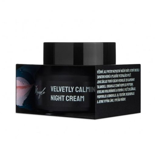 Výživný nočný krém - Velvetly Calming Night Cream, 100% čisto prírodná pleťová kozmetika zo Slovenska. Regeneruje, jemne vypína línie a vypĺňa vrásky