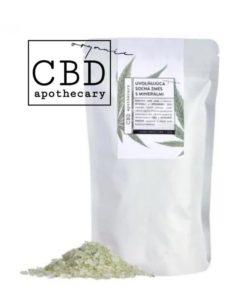 Uvoľňujúca soľná zmes s minerálmi CBD - 100% čisto prírodná slovenská konopná kozmetika. Na ekzém, psoriázu, seboreu, šupinatú suchú pleť