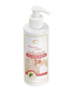 CELUSTIN masážne mlieko proti celulitíde - česká prírodná kozmetika bez parabénov. Spoločné pôsobenie silíc vedie k likvidácií tukových buniek
