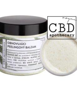 Obnovujúci peelingový balzam na telo a tvár CBD konopná kozmetika - 100% čisto prírodná slovenská konopná kozmetika. Na extrémne citlivú pleť