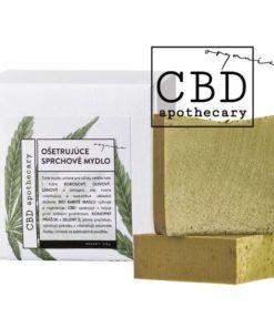 Ošetrujúce jemné sprchové mydlo CBD - 100% čisto prírodná slovenská konopná kozmetika. Na ekzém, psoriázu, seboreu, šupinatú suchú pleť