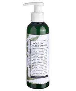 Prečisťujúci bylinný šampón 200MG CBD konopná kozmetika - 100% čisto prírodná slovenská konopná kozmetika. Na extrémne citlivú pleť, seboreu, ekzém. Dobrý šampón na seboreu