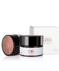 CBD pleťový krém, 100% prírodná česká kozmetika. CBD izolovaný z extraktu konopy siatej je známy svojimi protizápalovými vlastnosťami