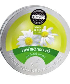 BIO harmančeková masť - česká prírodná kozmetika na telo, ruky, ekzém. Bez parabénov. Harmanček sa tradične používa pre svoje upokojujúce a hojivé účinky.