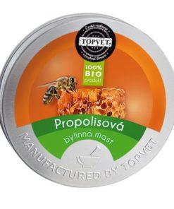 BIO propolisová masť - bercov vred, popáleniny, psoriáza, plesne. Česká prírodná kozmetika na telo. Bez parabénov. Pomáha pri liečbe bercového vredu