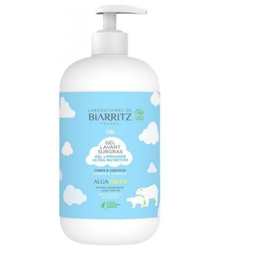 BIO umývací gél pre novorodencov, bábätká, malé deti, alergikov. 100% čisto bio kozmetika na telo. Hypoalergénny, bez vône. Neštípe v očiach