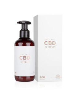CBD telové mlieko Essens - česká prírodná kozmetika. CBD izolovaný z extraktu konopy siatej je známy svojimi protizápalovými vlastnosťami
