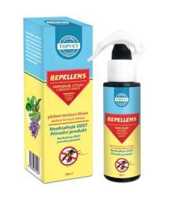 REPELLENS liehové tonikum - prírodné bez DEET. Na pokožku a textil, s vysokým obsahom bylinných silíc, na odpudzovanie hmyzu.