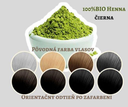 BIO Henna čierna INDIGO - 100% prírodná, vegánska kozmetika. Vlasy vyživuje a ošetruje, lepšie použiť práve čistú hennu. BIO kozmetika