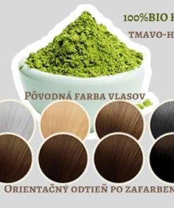 BIO Henna tmavo hnedá 3x Indigo - 100% prírodná, vegánska kozmetika. Vlasy vyživuje a ošetruje, lepšie použiť práve čistú hennu. BIO kozmetika