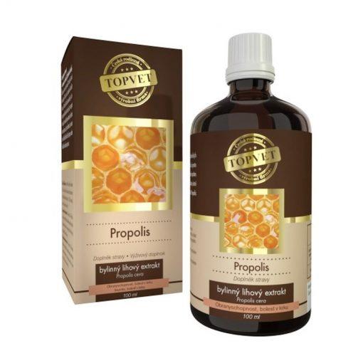 PROPOLIS tinkúra liehové kvapky - imunita, bolesť v krku. Zmes živicových látok, včelieho vosku, balzamov, éterických olejov a flavonoidov.