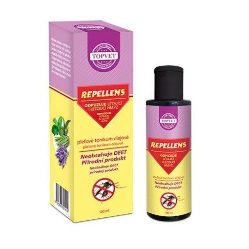 REPELLENS olejové tonikum - prírodný repelent bez DEET. Na pokožku s vysokým obsahom bylinných silíc, na odpudzovanie hmyzu.