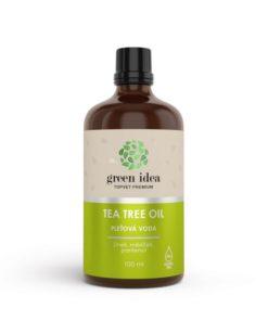Tea Tree pleťová voda s nechtíkom, zinkom, panthenolom pre čistenie pleti bez poškodenia. Voda s vysokým obsahom oleja austrálskeho čajovníka