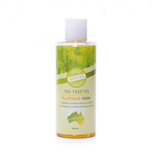 Tea Tree pleťová voda problematická pleť s nechtíkom, zinkom, panthenolom pre čistenie pleti bez poškodenia. Vysoký obsah oleja čajovníka. Prírodná pleťová kozmetika