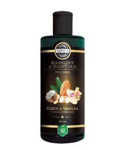 Wellness olej KOKOS s vanilkou pre regeneráciu suchej pokožky