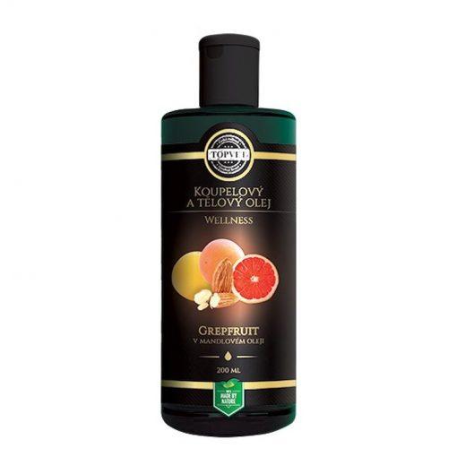 Wellness olej Grapefruit osvieži. Mandľový olej s grapefruitom vykazuje značný relaxačný účinok a navodzuje pocity pohody a dobrej nálady.