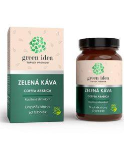 Zelená káva tobolky vhodná je k pri únave a vyčerpaní. Aktívne látky zelenej kávy potláčajú chuť k jedlu a urýchľujú spaľovanie tukov.