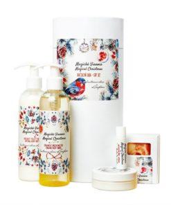 Magické Vianoce darčeková tuba je originálny vianočný darček. Prírodná kozmetika na telo, pre celú rodinu. Voňavé Vianoce. Vianočná kazeta